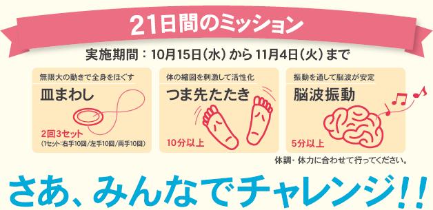 21日間キャンペーンチャレンジャー大募集